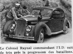 Authion 1945 printemps - colonel Raynal commandant l'ID