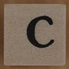 Stamp letter C