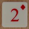 Playing Card Tile 2 of Diamonds