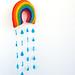 Ibiza - Rainbow & Raindrops Felt Mobile