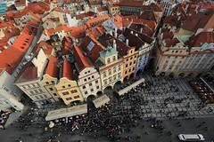 在火柴盒中的我們  ~Gazing from Pražský orloj, Staroměstské náměstí 布拉格舊城廣場 ~ photo by PS兔~兔兔兔~