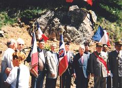 Authion - Inauguration d ela plaque du Col de la Lombarde - de gauche à droite : 4e : Wladislas Picuira, 7e Général Saint Hillier - col. Wladislas Picuira