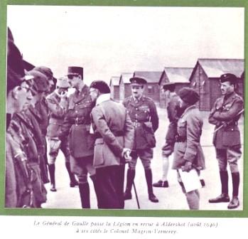 13 DBLE- 1940- Angleterre- DG Légion Adelshort Magrin Verneray