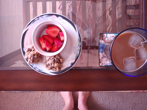 Cookies Strawberries Coffee