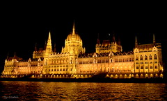 Hungarian Parliament Building by Night photo by Cost3l