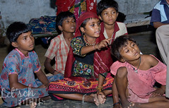 Indian Children watching television photo by mughalminiatures_costumes