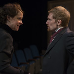 Kate Fry (Hedda) and Scott Parkinson (Judge Brack) in HEDDA GABLER at Writers Theatre.  Photo by Michael Brosilow.