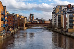 River Aire from Centennial Bridge photo by jasonmgabriel