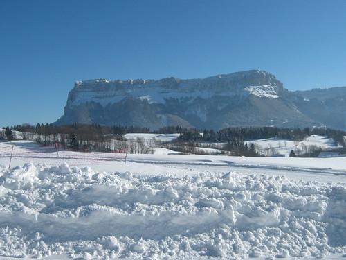 Mont Granier depuis le site de ski de fond du Désert