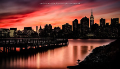 Sunset: New York City in Silhouette photo by Photography by Carlos Martin