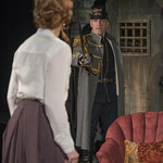 Shannon Cochran (Alice) and Larry Yando (Edgar) in THE DANCE OF DEATH at Writers Theatre