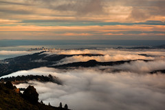 Cloudy View from Mt. Tamalpais photo by Beau Rogers