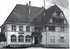 Alsace- 1945- Obenheim - Mairie PC du BM 24 01 janvier 44- Source  Carnet de route d'André Sébart BM 24