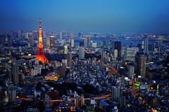Tokyo City View in Blue Hour photo by どこでもいっしょ