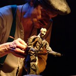 Larry Neumann Jr. in THE PUPPETMASTER OF LODZ at Writers Theatre. Photos by Michael Brosilow.