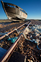 Abandoned Fishing Boat, Dungeness photo by eye pad