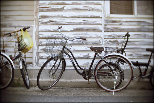 Small house and Kobe bicycles