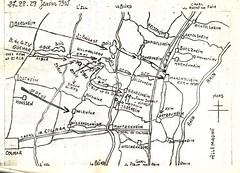 Alsace- 1945- Carte de Grussenheim
