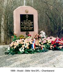 Alsace-L'Illwald_Stele en 1999 - Fonds E. Gauthier