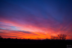 Kansas Burning Sunset #Flickr12Days photo by Kay Martinez