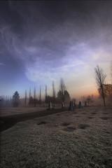 cemetery cyclist at sunrise photo by Juan Rostworowski