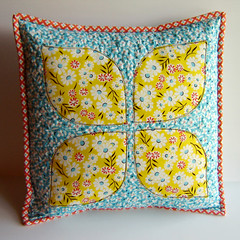 Dogwood Pillow Front photo by Marci Girl Designs