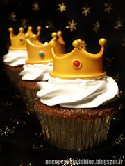Cupcakes des Rois Frangipane & Fleur d'Oranger photo by Un Cupcake, l'Addition !