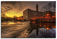 River Aire, Saltaire photo by .Wadders