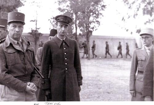 1943 - Tunisie - général Brosset- Col. Alain Jacquot-Boileau