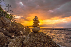 Beach Rock Art at Sunset...Rincon, Puerto Rico photo by Louis O'Halloran