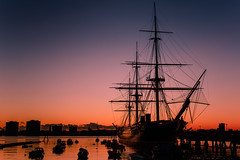 Afterglow Over HMS Warrior (Explore 19-1-2014) photo by Sunset Snapper
