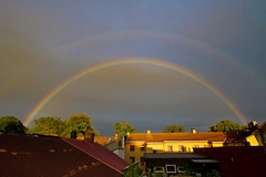 Rainbow over Old Town (Gamlebyen) - Fredrikstad photo by iharsten
