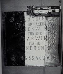 13 DBLE- 1er drapeau de la 13 DBLE conservé au Musée de la Légion Etrangère à Aubagne (col.Képi Blanc)