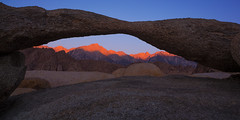 Sunrise at Lathe Arch photo by Joe Ganster