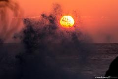 砕ける波 Breaking Wave photo by iwakawa73