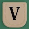 Line Word black letter V