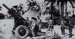 RA- 1945 -La Victoire : les  101 coups de canon place Massena à  Nice
