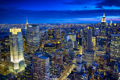 From the Top of the Rock... Manhattan Island at night, New York photo by Mathew Roberts
