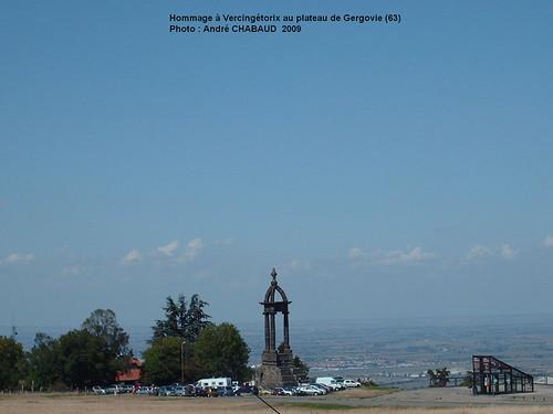 Hommage à Vercingétorix au plateau de Gergovie (63)