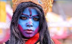 Portrait of A Bahurupi photo by pallab seth