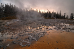 Old Faithful Geyser Basin, Yellowstone National Park HDR photo by Brandon Kopp