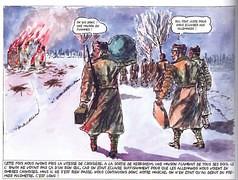 """1945 - Alsace- Illustration - Herbsheim , vignette de la bande dessinée de Xavier Zicchina """"les combats d'Herbsheim"""" - Société d'édition des quatre cantons"""