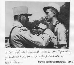 De Larminat- après BH décoration d'un  légionnaire  - col. ballanger