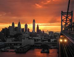 Philadelphia Skyline at Sunset [Explored 1/5/2014 #14] photo by Valentina Sokolskaya
