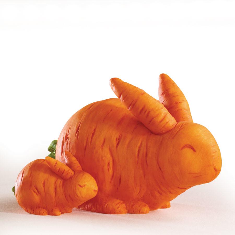 树脂蔬果做成动物装饰品