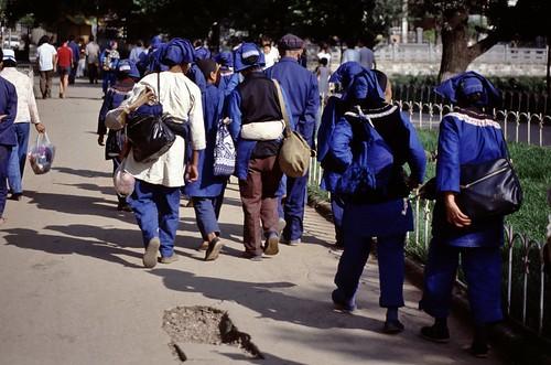 1985 CHINA 1595 5-8 Kunming Blauwe vrouwen