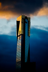 Eureka Tower at sunset. photo by Carlos Barrero