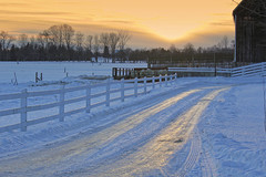 Winter Sunset and the Lane photo by Brian 104