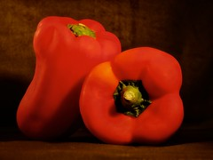 red peppers photo by Timothy Valentine