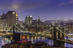 Brooklyn Bridge Manhattan Skyline photo by Mabry Campbell